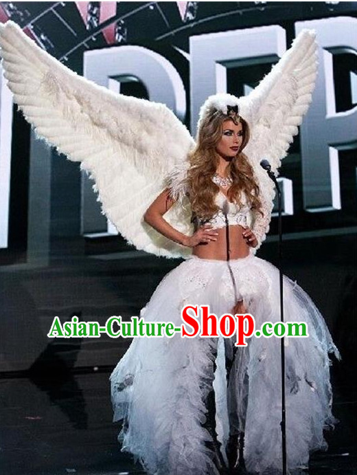 Parade Quality Peacock Feather Dance Costumes Popular Ostrich Feathers Fancy Costume Costume Angel Wings Costume Complete Set