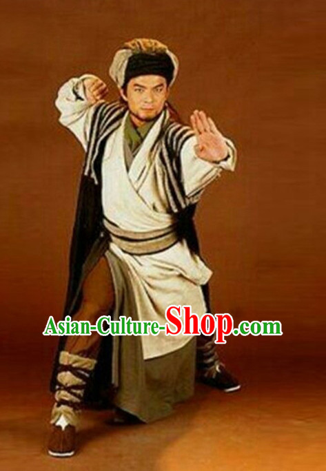 Chinese Ancient Warrior Archer Condor Heroes Costume Condor Hero Costumes and Hat Complete Set for Men