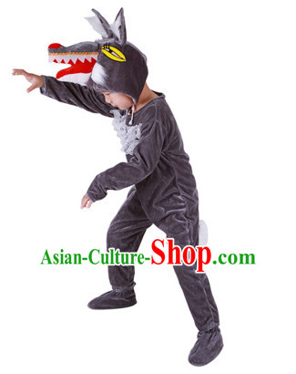 Stage Performance Wolf Dance Costumes Complete Set for Kids or Adults