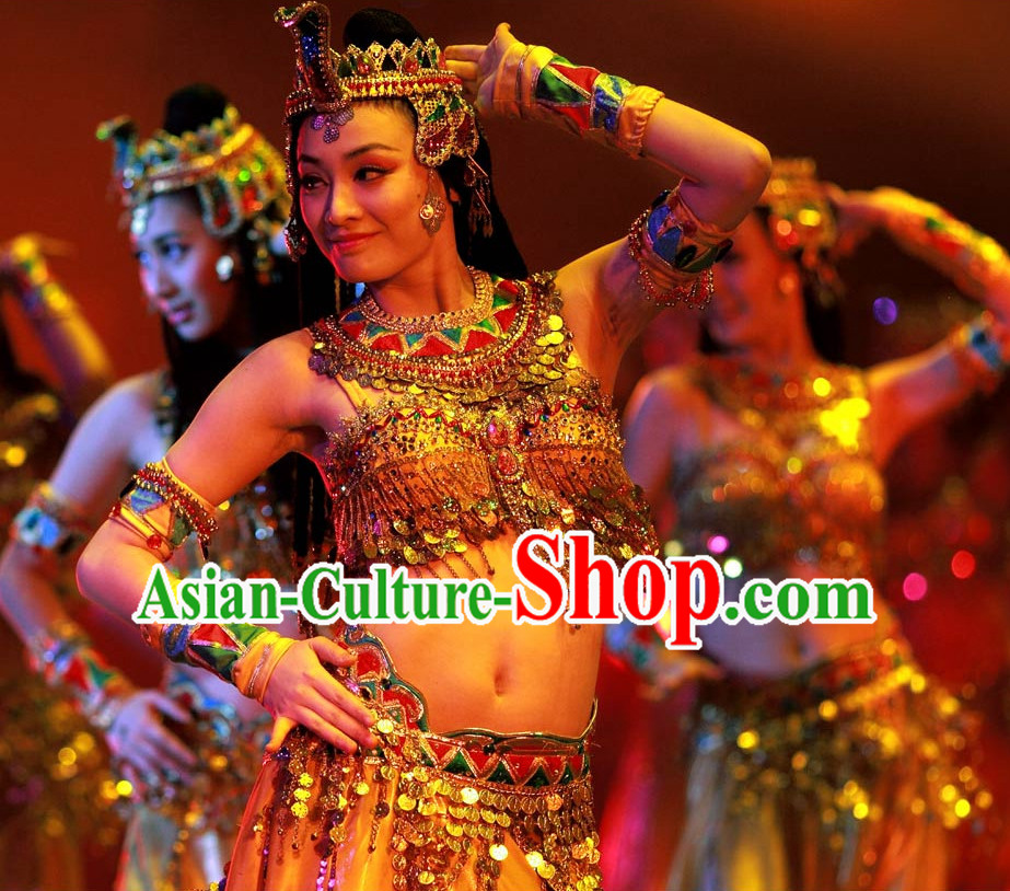 Professional Stage Performance Arab Dance Costumes Complete Set for Women or Girls