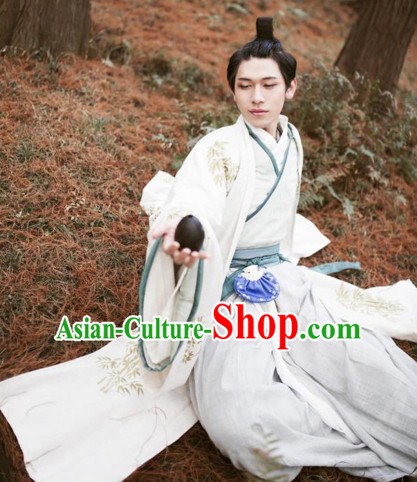 Ancient Chinese Men Clothing Traditional Hanfu Hanbok Kimono Dress National Costume Dresses Complete Set