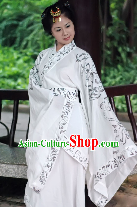 Ancient Chinese Dresses Traditional Royal Stage Hanfu Classical Dress Costumes Clothing Complete Set