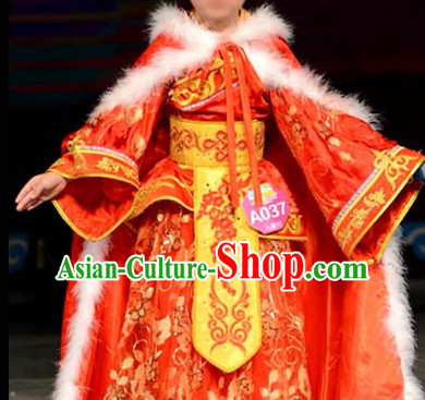 Chinese Stage Ancient Style Costume Dance Costumes Fan Dance Umbrella Ribbon Fans Dance Fan Water Sleeve Costume for Children Girls