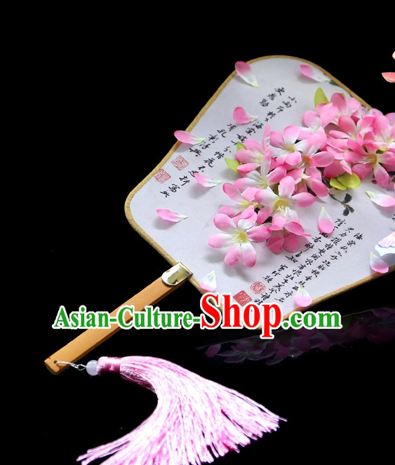 Chinese Handmade Fan Stage Performance Flower Fan