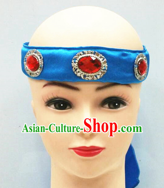 Chinese Handmade Mongolian Women Headwear Minority Mongol Hat Mongolia Headpieces Headband