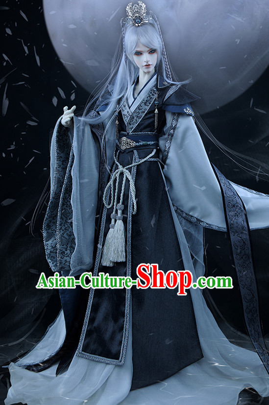 Ancient Chinese Emperor Men Costumes Taoist Clothing Traditional Costumes Hanfu Complete Set