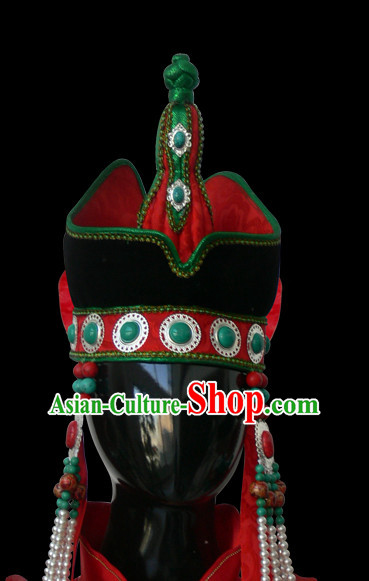 Traditional Chinese Mongolian Princess Hat