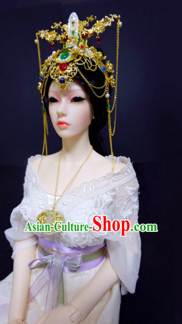 Chinese Traditional Headwear Headdress Hairpiece Hair Ornaments Head Pieces