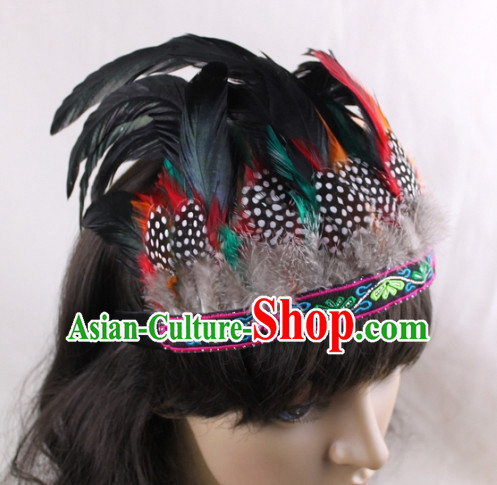 Handmade Feather Hair Pin Hair Accessory Headwear Hair Accessorie Head Dress Head Piece Jewel Hat Set