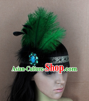 Handmade Feather Hair Pin Hair Accessory Headwear Hair Accessorie Head Dress Head Piece Jewel Set
