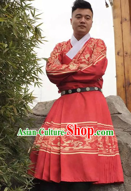 Traditional Chinese Ancient Ming Dynasty Clothing Imperial Wedding Dresses Beijing Classical Chinese Bridal Clothing for Men