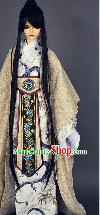 Men Phoenix Dress White Wedding Dress Stage Performance Phoenix Wedding Peacock Dress Traditional Chinese Clothing White Costume