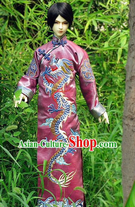 Men Phoenix Dress Wedding Dress Stage Performance Phoenix Wedding Peacock Dress Traditional Chinese Clothing White Costume