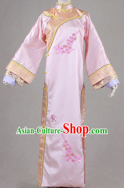Traditional Chinese Clothing Han Fu Dresses Beijing Classical China Qing Manchu Clothing for Women