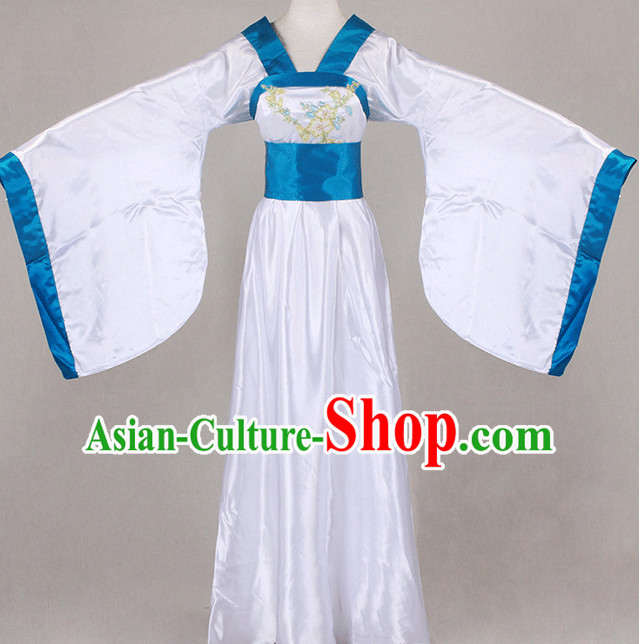 Traditional Chinese Wide Sleeve Clothing Han Fu Dresses Beijing Classical China Clothing for Women