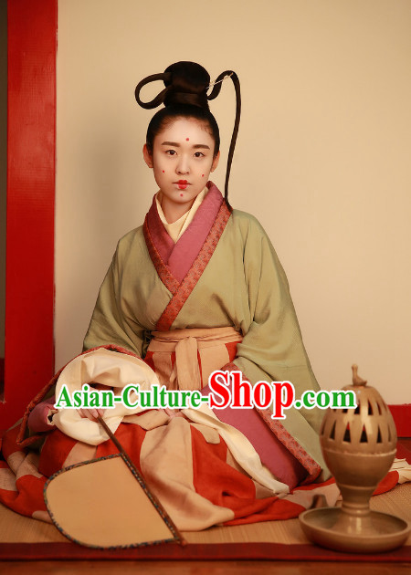 Chinese Ancient Female Clothing Complete Set