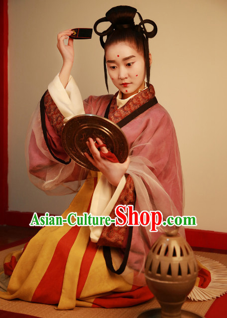 Chinese Ancient Palace Lady Female Clothing Complete Set