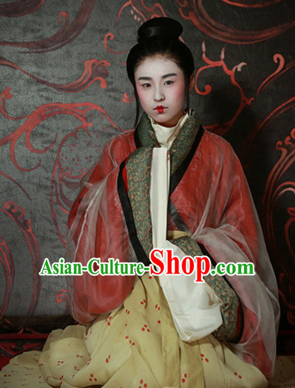 Special Events Ancient Chinese Hanfu Wedding Dress Hanbok Kimono Complete Set for Women