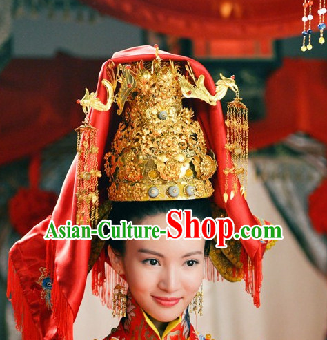 Ancient Chinese Princess Palace Crown Hat Coronet Headwear Headpieces