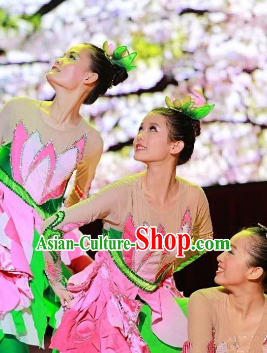 Traditional Chinese Yangge, Fan Dancing Wholesale Costume, Classical Lotus Dance Clothing, Folk Dance Yangko Costume Dancewear for Women