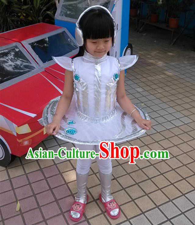 Traditional Chinese Yangge, Children Fan Dancing Wholesale Costume, Folk Dance Yangko Costume Dancewear for Kids