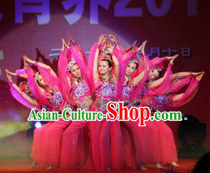 Traditional Chinese Yangge, Fan Dancing Wholesale Costume, Folk Dance Yangko Costume, Traditional Chinese Nationality Dancewear for Women