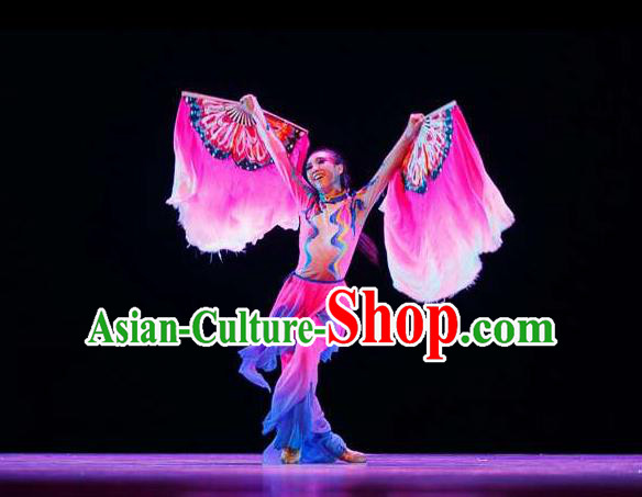Traditional Chinese Yangge, Fan Dancing Wholesale Costume, Folk Dance Yangko Costume, Traditional Chinese Dancewear for Women