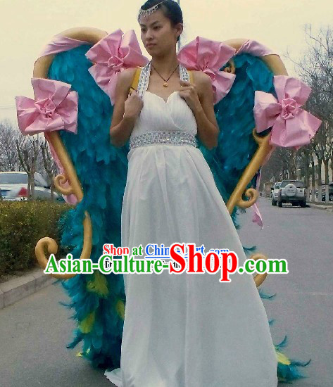 Handmade Long Feather Angel Wings Stage Performance Props