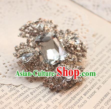 Traditional Classic Ancient Jewelry Accessories Restoring Brooch, Elegant Baroque Crystal Breastpin for Women