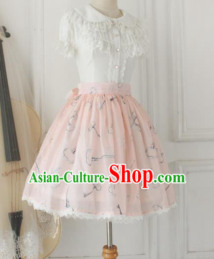 Traditional Classic Elegant Women Costume Bust Skirt, Restoring Ancient Princess Organza Sweet Giant Swing Skirt for Women