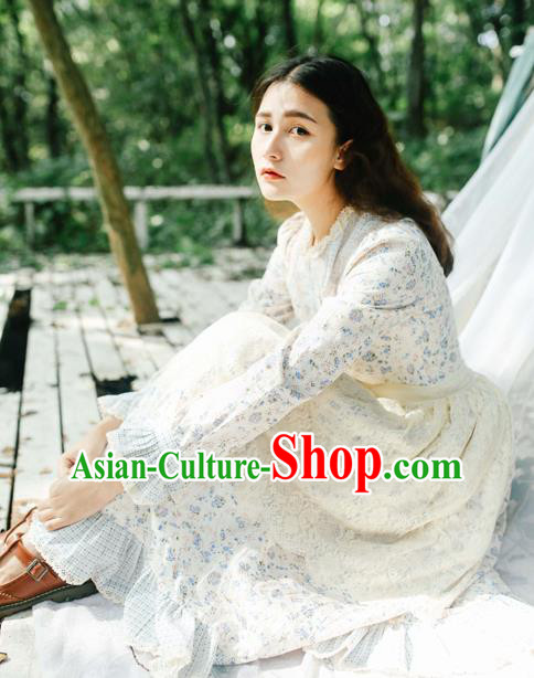 Traditional Classic Chinese Elegant Women Costume Champee One-Piece Dress, Restoring Ancient Princess Lace Dress for Women