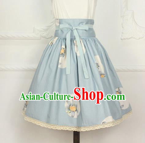 Traditional Japanese Restoring Ancient Kimono Costume Small Skirt, China Modified Short Sweet Pleated Skirt for Women