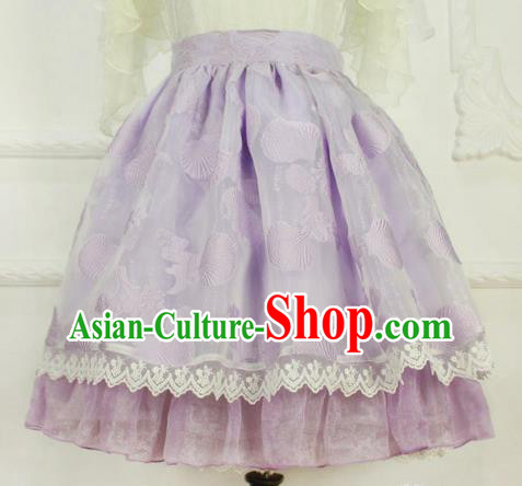 Traditional Classic Elegant Women Costume Bust Skirt, Restoring Ancient Princess Bubble Skirt Giant Swing Lace Skirt for Women