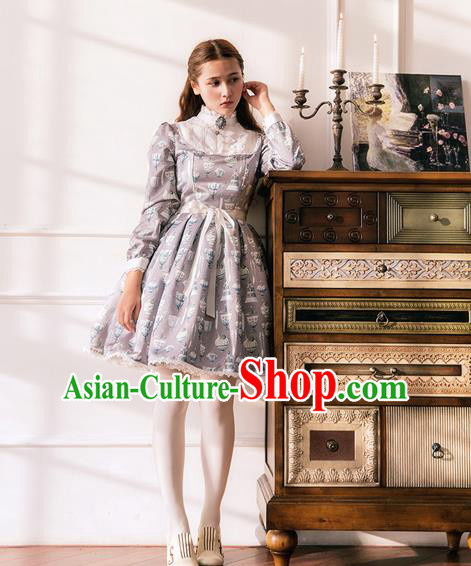 Traditional Classic Elegant Women Costume One-Piece Dress, Restoring Ancient Princess Giant Swing Pleated Dress for Women