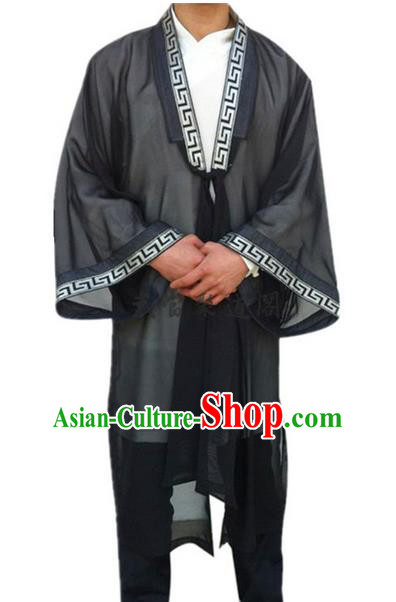 Traditional Chinese Wudang Uniform Taoist Uniform Priest Frock Complete Set Veil Long Robe Tai Chi Suits Uniforms for Men