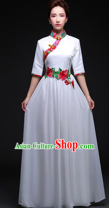 Traditional Chinese Classic Stage Performance Chorus Modern Dance Costumes Dress, Chorus Competition Costume, Compere Costumes for Women