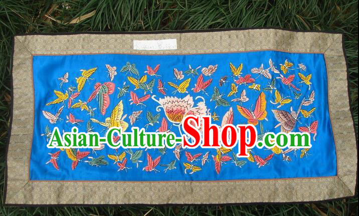 Traditional Chinese Miao Nationality Classic Hand Made Embroidery Flake- One Hundred of Butterflies