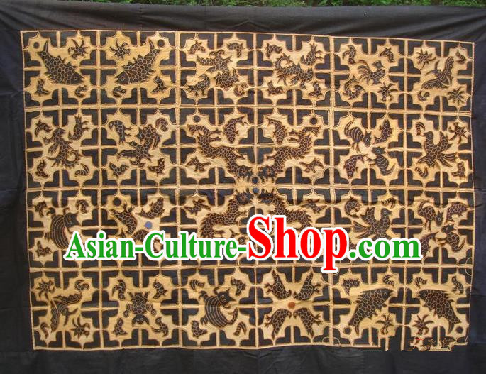 Traditional Chinese Miao Nationality Classic Hand Made Embroidery Flake