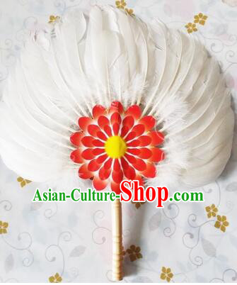 Feather Fans Goose Feather Stage Show Dance properties White