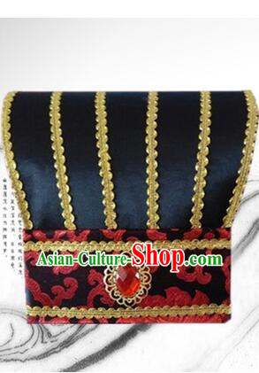 Ancient Chinese Play Property Head Wear Chinese Traditional Style Emperor Hat Officials Tiara Han Fu Head Wearing