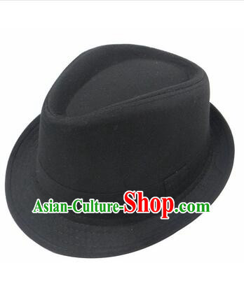Chinese Traditional Hat Formal Hat Min Guo Play Stage Cross Talk Show Shanghai Town Wen Qiang Xu Hat