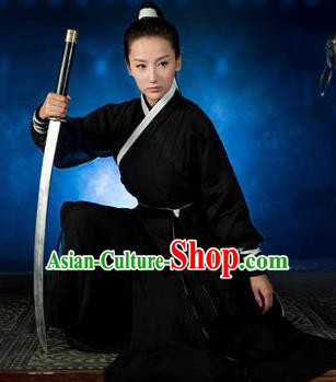 Traditional Chinese Costume Chinese Ancient Swordswomen Dress, Ming Dynasty Swordsmen Costume for Women