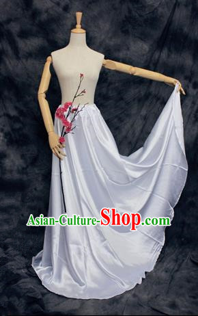 Chinese Ancient Cosplay Costumes, Chinese Traditional Clothes Base Skirts, Ancient Chinese Cosplay Chiffon Skirt for Women
