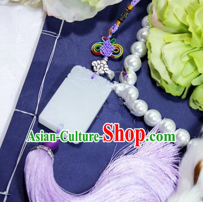 Chinese Ancient Cosplay Jewelry Accessories, Chinese Traditional Royal Prince Jade Pendant, Ancient Chinese Cosplay Swordsman Knight Wearing Jade for Men