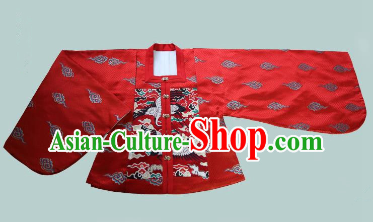 Traditional Chinese Ming Dynasty Young Lady Embroidered Costume Red Blouse, Asian China Ancient Hanfu Clothing for Women