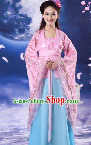 Traditional Ancient Chinese Palace Lady Costume, Asian Chinese Tang Dynasty Imperial Consort Embroidered Dress Clothing for Women