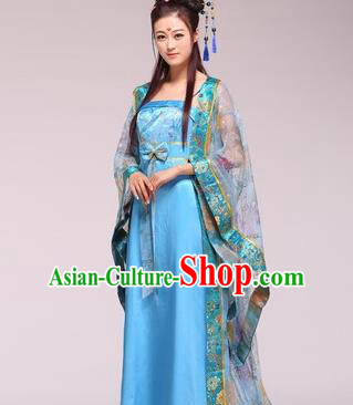 Traditional Ancient Chinese Palace Lady Imperial Consort Costume, Asian Chinese Tang Dynasty Fairy Clothing for Women