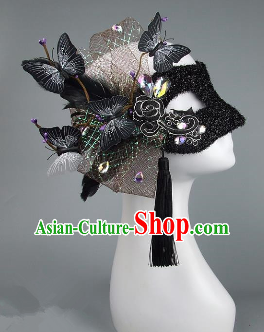 Top Performance Catwalks Headwear Halloween Cosplay Hair Accessories Mask headpiece