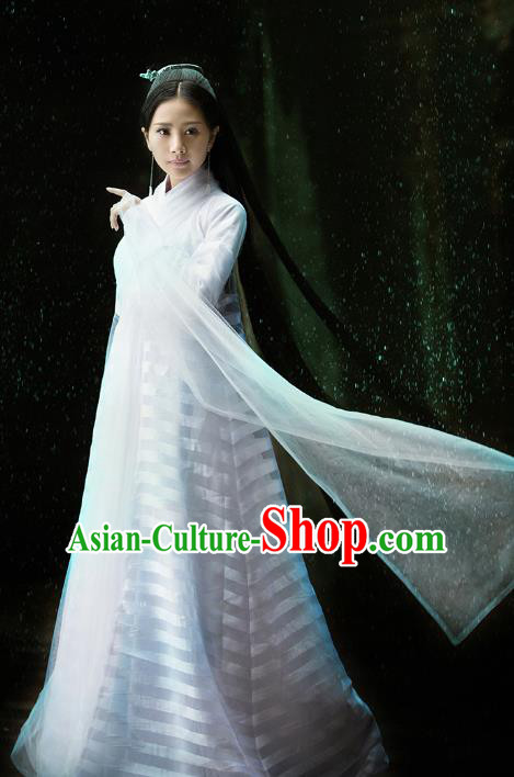 Asian Chinese Tang Dynasty Princess Embroidered Costume, Ancient China Ten great III of peach blossom Palace Lady Fairy Embroidery Dress Clothing