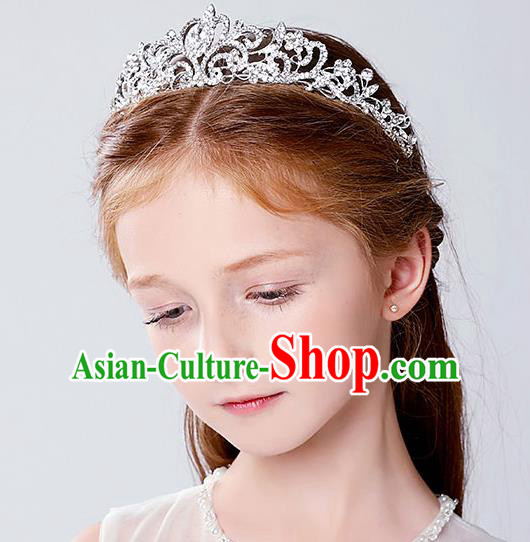 Handmade Children Hair Accessories Pearls Hair Stick, Princess Halloween Model Show Headwear Hair Clasp for Kids